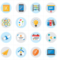 Flat Icons For School Icons and Education Icons vector image