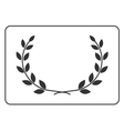 Laurel wreath icon border 14 vector image