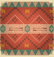 Native ethnic ornament of american indian vector image