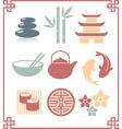 oriental zen design elements vector image