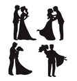 set of silhouettes set of silhouettes vector image