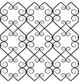 wrought iron pattern vector image