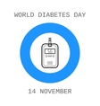 World diabetes day Device for measuring the blood vector image vector image
