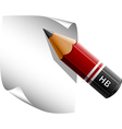 Pen and a notepad vector image vector image