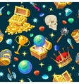 Treasure Chests Isometric Seamless Pattern vector image