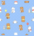 cute cartoon bears vector image vector image