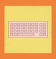 flat shading style icon computer keyboard vector image
