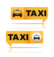 Taxi Banners vector image vector image