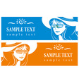 girl in a hat and sunglasses vector image vector image