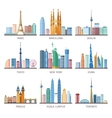 Cities Skylines Icons Set vector image
