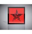 tattoo star vector image vector image