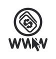 web money icon vector image vector image