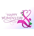 8 march womens day greeting vector image
