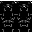 seamless of cat faces vector image