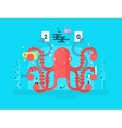 Octopus character design flat vector image vector image