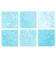 Abstract blue pixel mosaic vector image