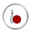 Bowling icon cartoon Single sport icon from the vector image
