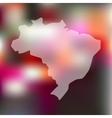 brazil icon on blurred background vector image
