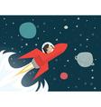 businessman on red rocket vector image