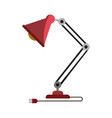 colorful graphic of modern desk lamp without vector image