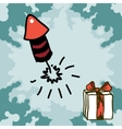 Firecracker rocket doodles vector image