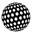 golf ball icon simple black style vector image