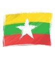 grunge myanmar flag vector image