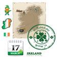 Ireland icons vector image
