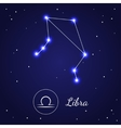 Libra Zodiac Sign Stars on the Cosmic Sky vector image