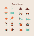 man and woman symbols vector image