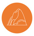 mountain icon in thin line style vector image