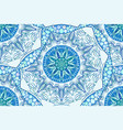 seamless blue abstract pattern curl vector image