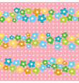 seamless pattern with cheerful flowers vector image