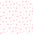 Shining little hearts seamless pattern vector image