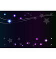 Shiny star in night abstract background vector image