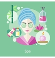 Spa Salon Concept Flat Style Design vector image
