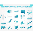 infographics collection blue data vector image
