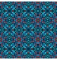abstract blue tribal geometric print vector image
