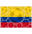 Colombia soccer balls vector image