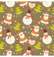 Christmas forest with santa vector image vector image