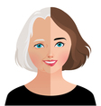 Concept beauty and rejuvenation of skin aging vector image