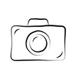 Photo camera doodle icon 1 vector image