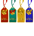 christmas gift tags in four rich colors vector image