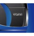 Frame for text blue background vector image