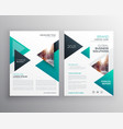 geoemtric triangles business flyer brochure vector image