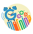 good morning flat style 3 vector image