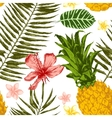 Hand drawn tropical seamless vector image