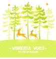 pine and deer vector image