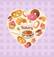 premium collection of colorful tasty cakes vector image