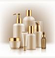realistic luxury premium brand set of cosmetic vector image